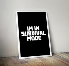 Typography Minecraft Inspired Survival by KennethQuadeDesigns