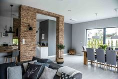 Nordic gray modern home interior design 6