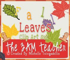 Free cute fall leaves clipart collection!