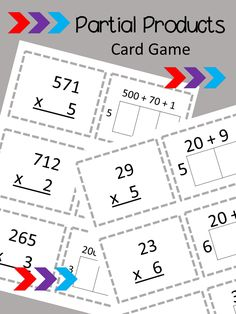 This card game is a great way for your students to practice using partial products and models to multiply!