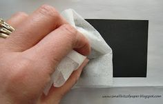 Before inking your image that you wish to emboss, rub a dryer sheet over your paper.  This eliminates the static that causes some bits of embossing powder to stick in unwanted places.