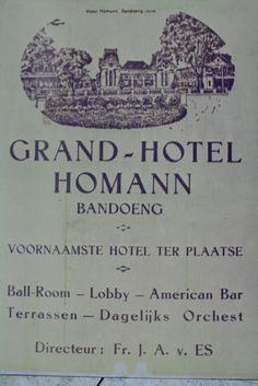 Pamflet promosi hotel Homann Bandoeng | Flickr - Photo Sharing!