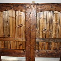 How To Build A Rustic Barn Door Headboard