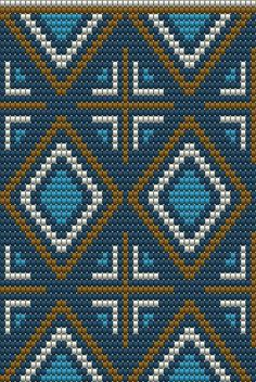 """The location where building and construction meets style, beaded crochet is the act of using beads to decorate crocheted products. """"Crochet"""" is derived fro Tapestry Crochet Patterns, Bead Loom Patterns, Cross Stitch Patterns, Inkle Weaving Patterns, Crochet Chart, Bead Crochet, Crochet Stitches, Mochila Crochet, Tapestry Bag"""