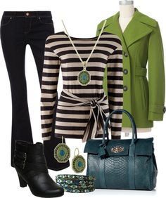 To complete: green trench coat <3