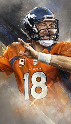Peyton Manning - An Illustrated Print on Behance