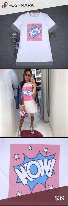 "🆕 Cute white dress ⛱ 💭 WOW❗️💭cute white dress size large, measurements: armpit to armpit 37.7"", dress length 33.8"". Dresses Mini"