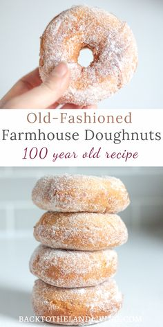 These homemade old fashioned doughnuts are classic and delicious! Learn how to make your own homemade donuts with this 100 year old farmhouse recipe. Doughnuts Recipe No Yeast, Homemade Doughnut Recipe, Baked Donut Recipes, Homemade Biscuits, Baking Recipes, Homemade Doughnuts Easy, Old Recipes, Baked Old Fashioned Donut Recipe, Old Fashioned Recipes