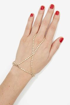 Hot and Gold Chain Hand Piece | Shop Accessories at Nasty Gal