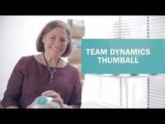 Team Dynamics Thumball participation tool. To get the conversation started, simply toss, catch, and look under your thumb to find your question!