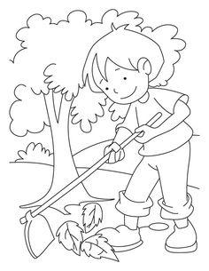 auf der kostenlosen malvorlage für kinder fährt ein kleiner junge auf seinem laufrad in den