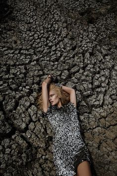 Caroline Wilson, Metallic Fashion Desert Editorial, Dry Lake Bed Location Shoot   NEW YORK FASHION BEAUTY PHOTOGRAPHER- EDITORIAL COMMERCIAL ADVERTISING PHOTOGRAPHY