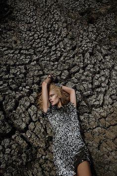 Caroline Wilson, Metallic Fashion Desert Editorial, Dry Lake Bed Location Shoot | NEW YORK FASHION BEAUTY PHOTOGRAPHER- EDITORIAL COMMERCIAL ADVERTISING PHOTOGRAPHY