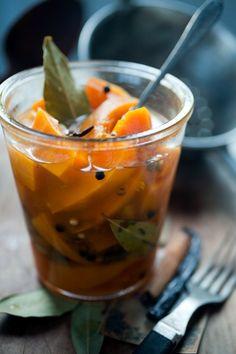 Pickled Hokkaido-pumpkin (recipe in Danish)