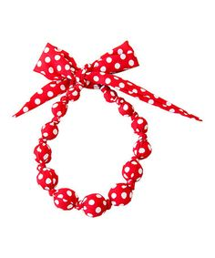 Look what I found on #zulily! Red Polka Dot Beaded Necklace #zulilyfinds