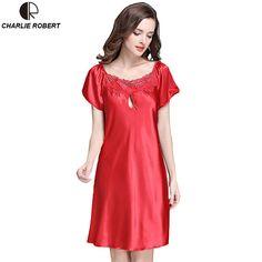 新しい女性のセクシーなランジェリーサテンシルクナイトドレスプラスサイズs〜4xlパジャマ9色レースネグリジェエレガントサマードレスAP355