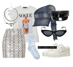 """Untitled #1193"" by amanda-lanerva ❤ liked on Polyvore featuring Dolce&Gabbana, Romeo Gigli, Reebok, Le Specs, Vetements, Urbiana and Ruslan Baginskiy"