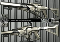 """JAKUTA - Concept of energy rifle. Concept based on usual shape of M-16. I just add """"aerodynamic"""" look and some """"wtf"""" parts. All cover in shine color in order not to make it too dark. (Concept, mode..."""