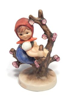 Apple Tree Girl Hummel Figurine MJ Hummel Goebel W. Germany
