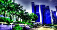 """""""Cityscape Singapore  Series  Tree and City"""" by William Yee Khai Teo, Singapore //  // Imagekind.com -- Buy stunning fine art prints, framed prints and canvas prints directly from independent working artists and photographers."""