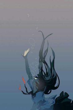 Anime Sketch Videos Attack On Titan Sad Anime Girl, Anime Art Girl, Anime Girl Crying, Dark Art Illustrations, Illustration Art, Aesthetic Art, Aesthetic Anime, Arte 8 Bits, Sun Projects