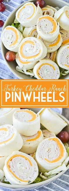Ditch the same old same old sandwich and try these easy and delicious Turkey Cheddar Ranch Pinwheels perfect for lunch, snack or on the go! Pool Snacks, Snacks Für Party, Appetizers For Party, Appetizer Recipes, Snack Recipes, Cooking Recipes, Parties Food, Beach Food Recipes, Food For Beach