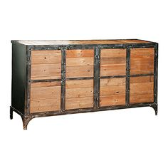 Steel and Wood Console