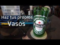 Como hacer Vasos con Botellas de Vidrio - darles el acabado - YouTube