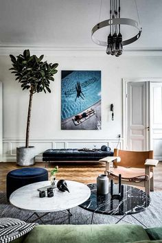 Ideas para decorar y organizar tu sala - Best Interior, Luxury Interior, Interior Styling, Contemporary Furniture, Contemporary Design, Modern Design, Living Room Designs, Living Spaces, Living Area