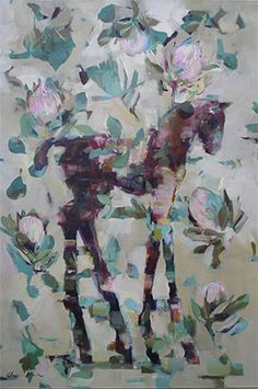 Pale Protea Filly - Painting by Pascale Chandler