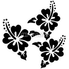 hibiscus stencil