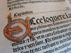 https://flic.kr/p/Lufs2g | Biblia Latina 1482 with illuminated initial | Leaf from 1482 Biblia Latina printed in Nuremberg by Koberger. Goff B575. [Fuller description to follow.]