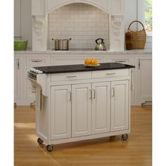 Shop for Create-a-Cart' White Finish Black Granite Top Cart. Get free shipping at Overstock.com - Your Online Kitchen