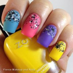Fierce Makeup and Nails: The Digit-al Dozen Does Skittles: Day 4