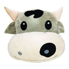 WEP Poop Emoji Pillow Emoticon Stuffed Plush Toy Doll Smiley Piggy Heart Eyes Unicorn Dog Kiss Face Rabbit (COW)