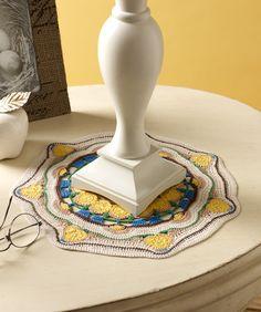 Sun Blossom Mandala Doily Crochet Pattern  #crochet  #aunt lydia  #redheartyarns