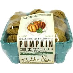 Pumpkin Bites Pet Treats by Bubba Rose Biscuit Company
