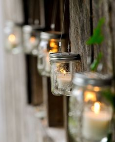 More jars, more lanterns. Great DIY Idea and I love the look of them. They give off a romantic light. Great wedding decoration.