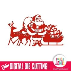Welcome to the Silhouette Design Store, your source for craft machine cut files, fonts, SVGs, and other digital content for use with the Silhouette CAMEO® and other electronic cutting machines. Christmas Vinyl, Christmas Clipart, Christmas Images, Vintage Christmas, Christmas Deco, Silhouette Design, Silhouette Cameo, Reindeer Silhouette, Silhouette Portrait