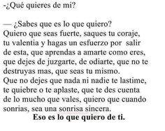 Lo que quiero de ti :)