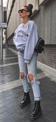21 Best Spring Outfits Street Style for Women 2020 - Sporty Outfits Trendy Fall Outfits, Cute Casual Outfits, Winter Fashion Outfits, Look Fashion, Spring Outfits, Women's Fall Fashion, Autumn Outfits Women, Comfortable Fall Outfits, Womens Fashion Casual Summer
