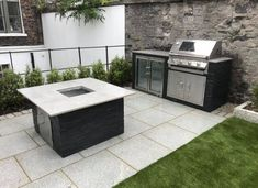 Silver granite is popular for many reasons but key to its enduring success is its stunning natural beauty and its sturdy, long-lasting composition.   A silver granite patio can age beautifully over decades, ensuring your investment can last for generations to come. Grey Paving, Granite Paving, Paving Slabs, Outdoor Kitchen Sink, Modular Outdoor Kitchens, Natural Stones, Design Inspiration, House Design, Outdoor Decor