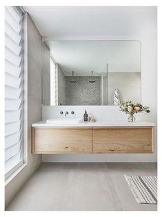 Bathroom Trends, Bathroom Inspiration, Modern Bathroom Remodel, Luxury Bathroom, Bathroom Interior Design, Timber Vanity, Mid Century Modern Bathroom, Bathroom Renovations, Bathroom Design