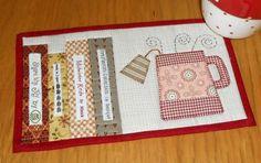 Tea and Books Mug Rug | Craftsy