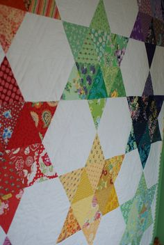 Chasing Rainbows Quilt Pattern twin size quilt by LilacLaneLLC