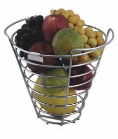 Peacock Revera Round Silver Metal Fruit Basket