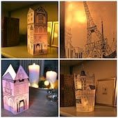 candle houses - Christmas Sale in my Etzy shop!