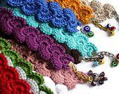 Wristlet - Handmade Grey Bracelet With Evil Eye - Crochet Bracelet