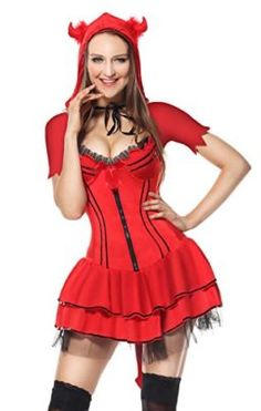 Ladies Devil Corset Only Adult Halloween Flame Satan Hell Fancy Dress Accessory