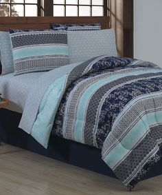 Another great find on #zulily! Blue Adler Eight-Piece Comforter Set by Geneva Home Fashions #zulilyfinds